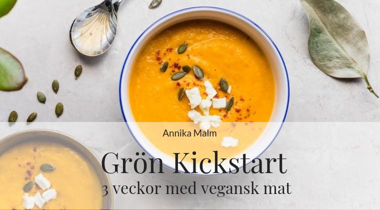 Grön Kickstart vegansk mat kostrådgivning